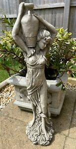 Lady With Wine Jug Stone Garden Statue   Outdoor Classical Sculpture Ornament
