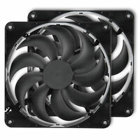 Rosewill Dual 2 Pack Black 140mm Case Cooling Fan for Computer Cases RNBD-131409