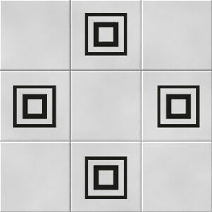 Squares Vinyl Wall Tile Stickers Decals Kitchen Bathroom Home Decor