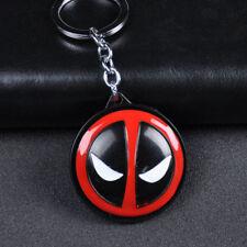 Marvel Superhero Deadpool Logo Alloy Rotate Key Chains Keychain Keyfob Keyring