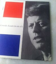 KENNEDY: LEADER FOR THE 60'S Small Vintage Booklet Citizens For Kennedy 1960 DNC