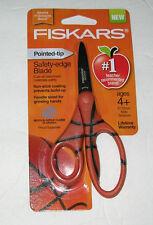 NEW FISKARS Scissors pointed tip -safety edge blade Children Kids BasketBall Art