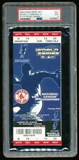 2004 World Series Game #1 FULL Ticket Red Sox Cardinals PSA 9 Mint Fenway Park