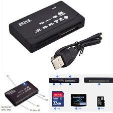 External USB Memory Card Reader SD SDHC Mini Micro M2 MMC XD CF MS For MP3 Cam C