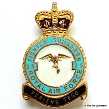 1950s RAF 25 Fighter Squadron MILLER Brooch Badge - Royal Air Force Tangmere