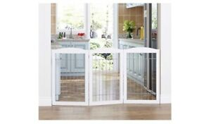 Spirich Freestanding Wire Pet Gate for Zdogs, 60 in. Extra wide, 30 in. Tall Dog