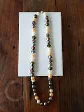 Fresh water multi coloured pearl necklace
