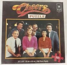 Bepuzzled Cheers TV Show Jigsaw Puzzle 500pc 13x19 Cast and Crew 35257 NEW