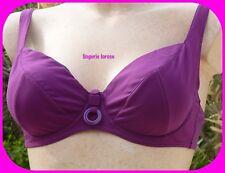 MAILLOT DE BAIN 2pièces Rasurel FR90D/3D/INT75D violet (dégriffé) BAS T2