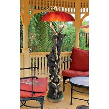 "KY79362 Setting Sun Black Bear Sculptural Floor Lamp -60"" Tall!"