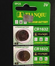2 CR1632 CR 1632 DL1632 BR1632 3 Volt Lithium Button Cell Battery USA US Ship