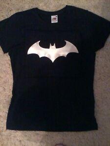 BATMAN NEW LOGO LADIES FITTED T-SHIRT