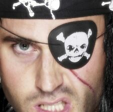 Pirate Skull Eye Patch Eyepatch Caribean Pirate Fancy Dress by Smiffys
