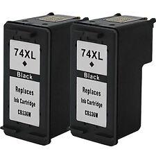 2 Pack 74XL Ink Fits HP Photosmart C4280 C4385 C4480 C5280 C5580 D5360 Printer