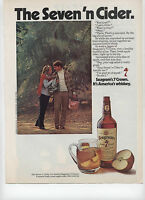 1973 Print Ad of Seven 'n Cider Seagram's 7 Crown Whiskey & Sweet Apple Cider