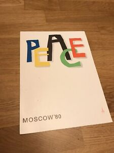 Poster Olympiad Moscow 1980 Olympic Games USSR Vintage Original
