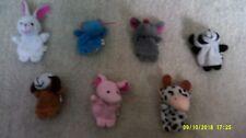 7 finger puppets rabbit,hippo,mouse,pana,dog,pig+zebra