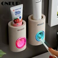 ONEUP Automatic Toothpaste Dispenser Dust-proof Toothbrush Holder Wall Mount