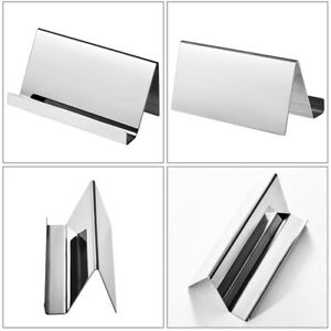 Storage Stable Stainless Steel Durable Business Card Holder Office Display Stand