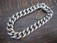 zeitlos elegantes mächtiges Jugendstil Gliederarmband Armband 800er Silber 19 cm