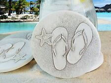 Clay Drink Coasters, FLIP FLOP ABSORBENT DRINK BAR or TABLE STONE COASTERS