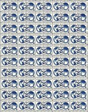 1960 - Wheels Of Freedom - #1162 Fault-Free Mint Nh Sheet of 50 Postage Stamps