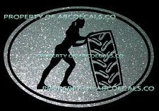 Vrs Oval Kreuz für Reifen Kippen Damen Gewicht Zug Work Out Auto Aufkleber Metal