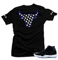 "Shirt to match   Air Jordan 11 Space Jam Sneakers ""Bull XI"" Black Tee"
