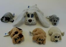 Vintage Pound Puppies Lot of 6 Mom & Baby Mini Plush 1995 Galoob Toy Marked Tags