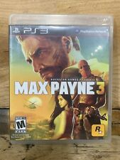 Max Payne 3 (Sony PlayStation 3, 2012) PS3 COMPLETE With Manual