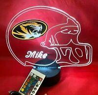 University of Missouri Tigers NCAA College Football Personalized LED Light Lamp