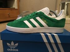 Adidas Gazelle Green & White Suede Size 8 80s Football Casuals Deadstock