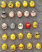 ☀️NEW Lego x25 Head Pieces Lego Minifigures minifig mini figure fig parts