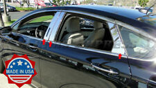 2013-2019 Ford Fusion 6Pc Chrome Pillar Post Stainless Steel w/KP cutout Trim