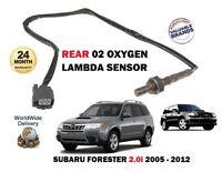 FOR SUBARU FORESTER 2.0i 2005-2012 NEW REAR DIRECT FIT 02 OXYGEN LAMBDA SENSOR