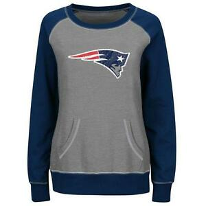 New England Patriots sweatshirt Majestic women OT Queen crew neck no hoodie NWT