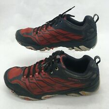 Merrell Moab FST Sneakers Hiking Shoes Low Top Lace Up Mesh Navy Red Mens 13