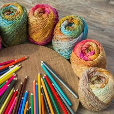 1Ball X 100gr Soft Colorful Rainbow Crochet Hand Knitting Yarn for Shawl Costume
