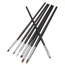 7Pcs Acrilico UV Gel Nail Art Disegno Polacco Spazzole Set di penne