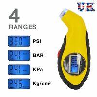 LCD Digital Tire Tyre Air Pressure Gauge Tester Tool For Auto Car Motorcycle =UK