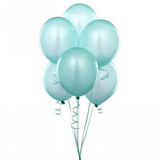 "24 Latex Balloons 12"" When Inflated Solid Colors - Aqua"