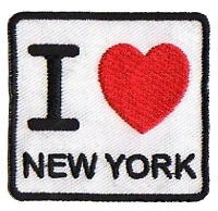 Patch écusson patche I love New York NY thermocollant brodé hotfix