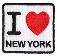 patch badge Embroidered badge hotfix patch I love New York NY fusible