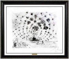 Salvador Dali Original Etching Argus Hand Signed Surreal Peacock Framed Artwork