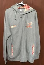 LRG Gray with Plaid Accents Hooded Sweatshirt Jacket Coat XL EXCELLENT  Tub20