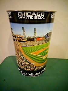 """WINCRAFT MLB LICENSED CHICAGO WHITE SOX US CELLULAR FIELD 15"""" METAL TRASH CAN"""