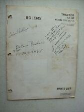 Original Bolens ~ Model 1255 G-12 Tractor ~ Parts List Manual