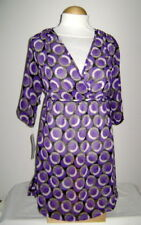NWT Kenneth Cole Plum/Black Circle Swimsuit Cover S