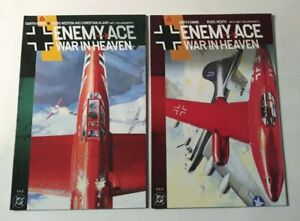 DC Enemy Ace: War In Heaven, 2 Issues, Garth Ennis, World War II Comic, SHARP!!