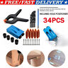 34X Woodworking Joinery mini Pocket Hole Jig Kit Step Drill Guide Clamp for Kreg